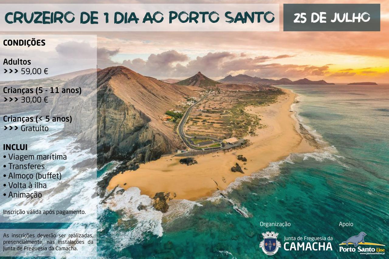 Cruzeiro de 1 dia ao Porto Santo